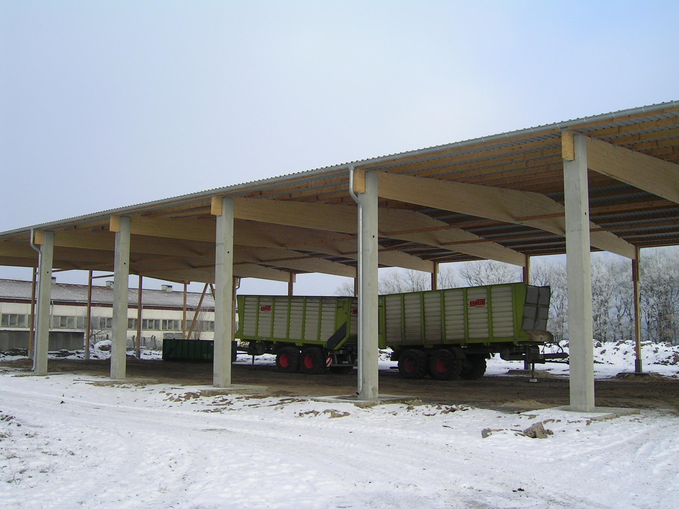 Satteldachbinder Strohlagerhalle Maschinenhalle