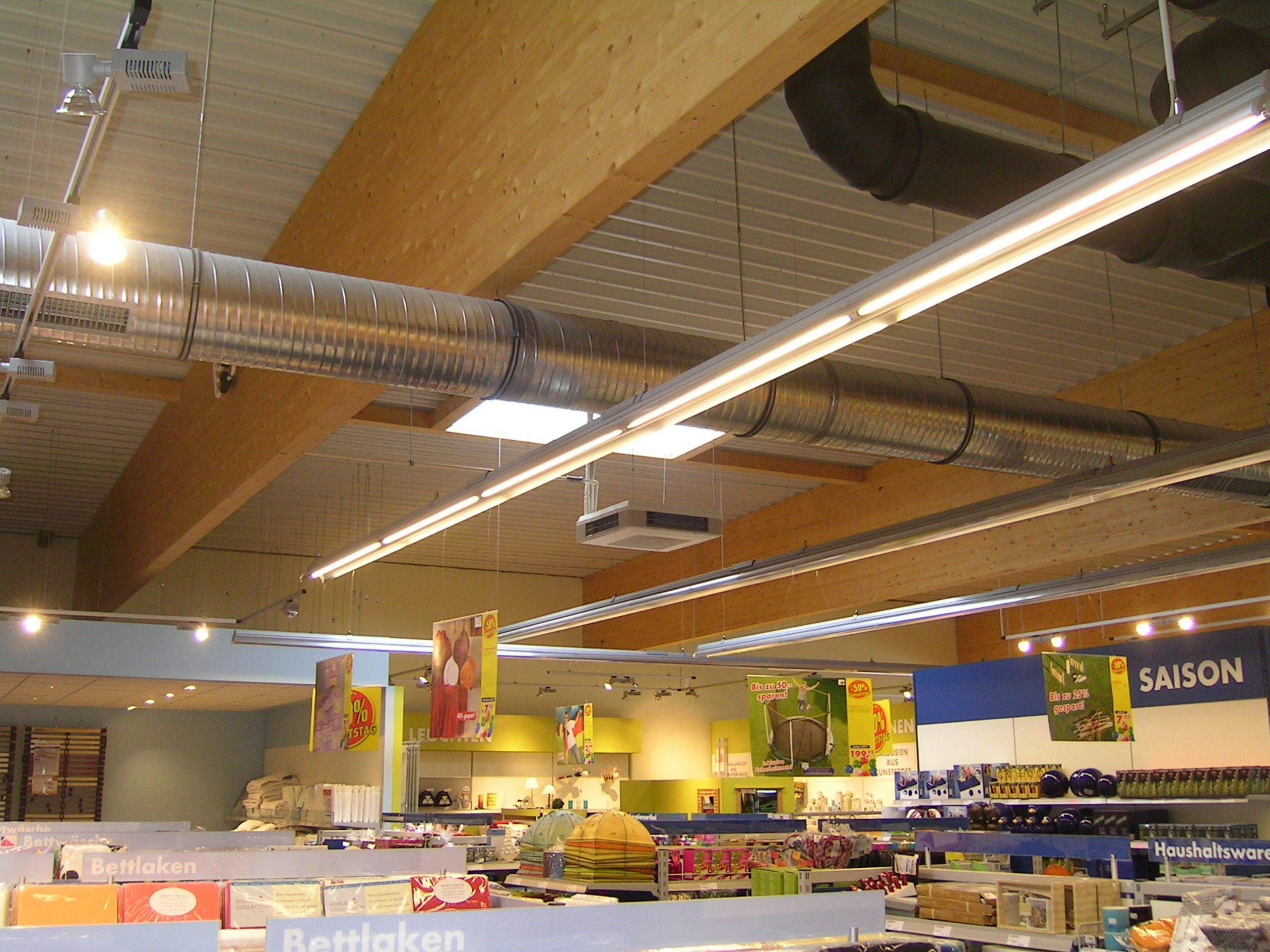 Satteldachbinder Markt BSH-Dachkonstruktion Schubfeld
