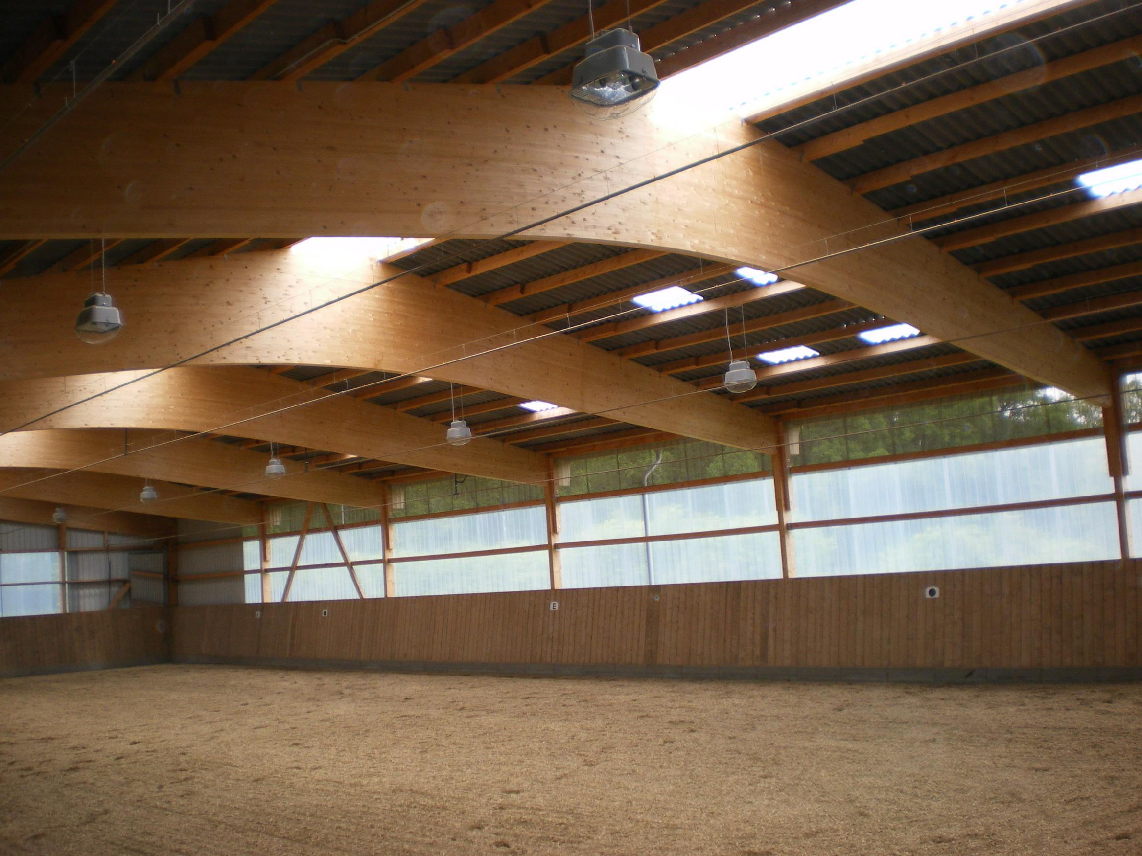 Satteldachbinder Reithalle Reitanlage Pferdestall BSH- Dachkonstruktion